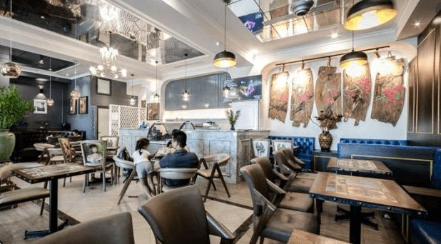 Mẫu quán cafe nhà ống sang trọng