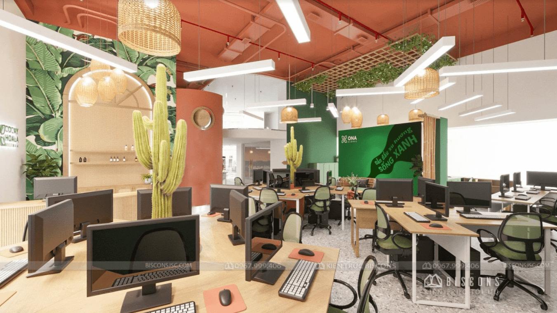 Thiết kế văn phòng làm việc diện tích 50m2