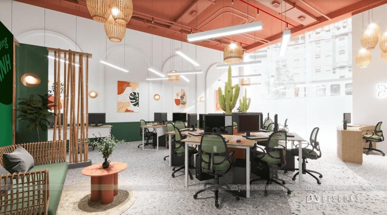 Mẫu thiết kế văn phòng hiện đại với diện tích 40m2