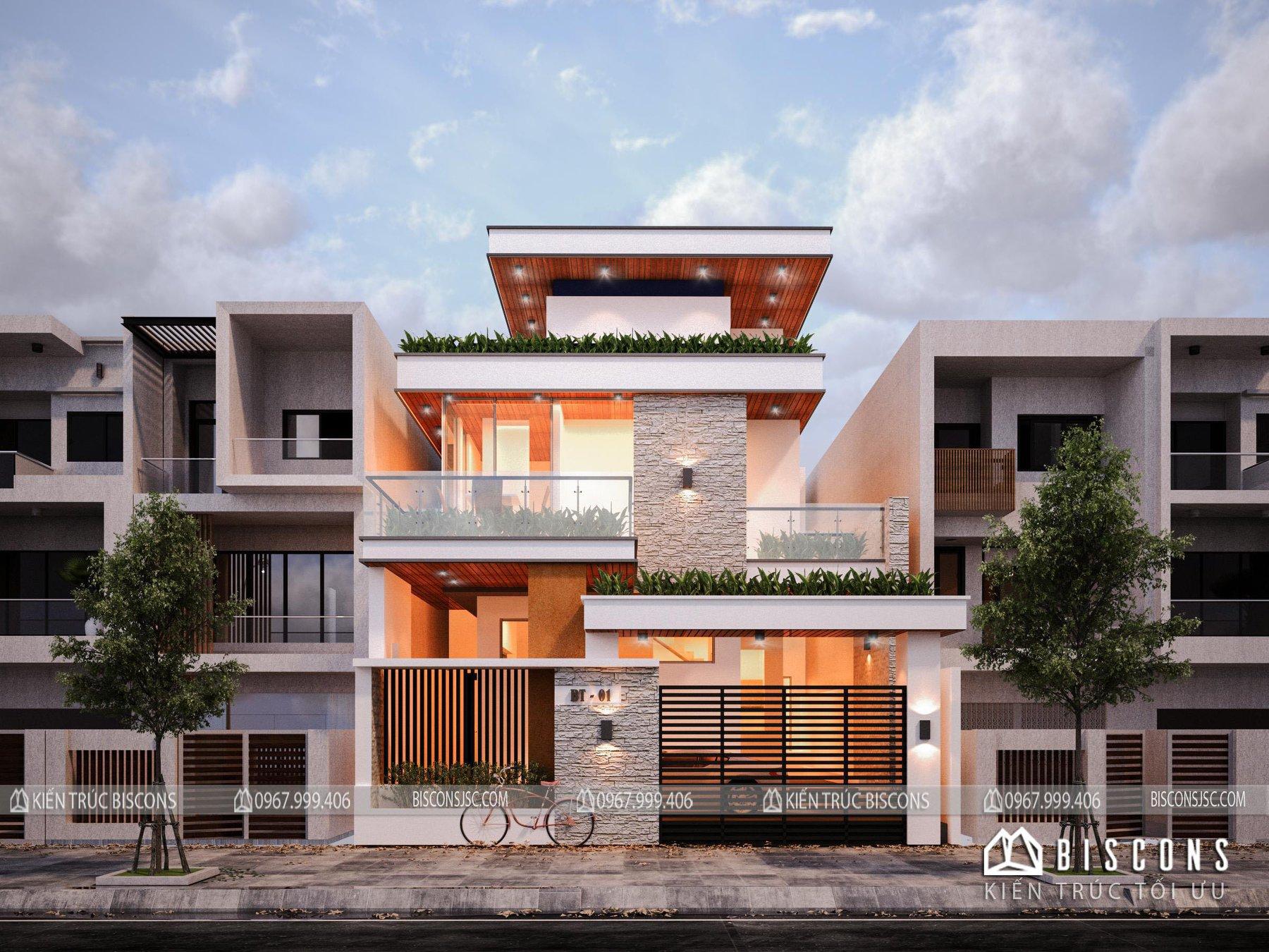 Nhà phố hiện đại 250 m2 Anh Thu - Hải Phòng