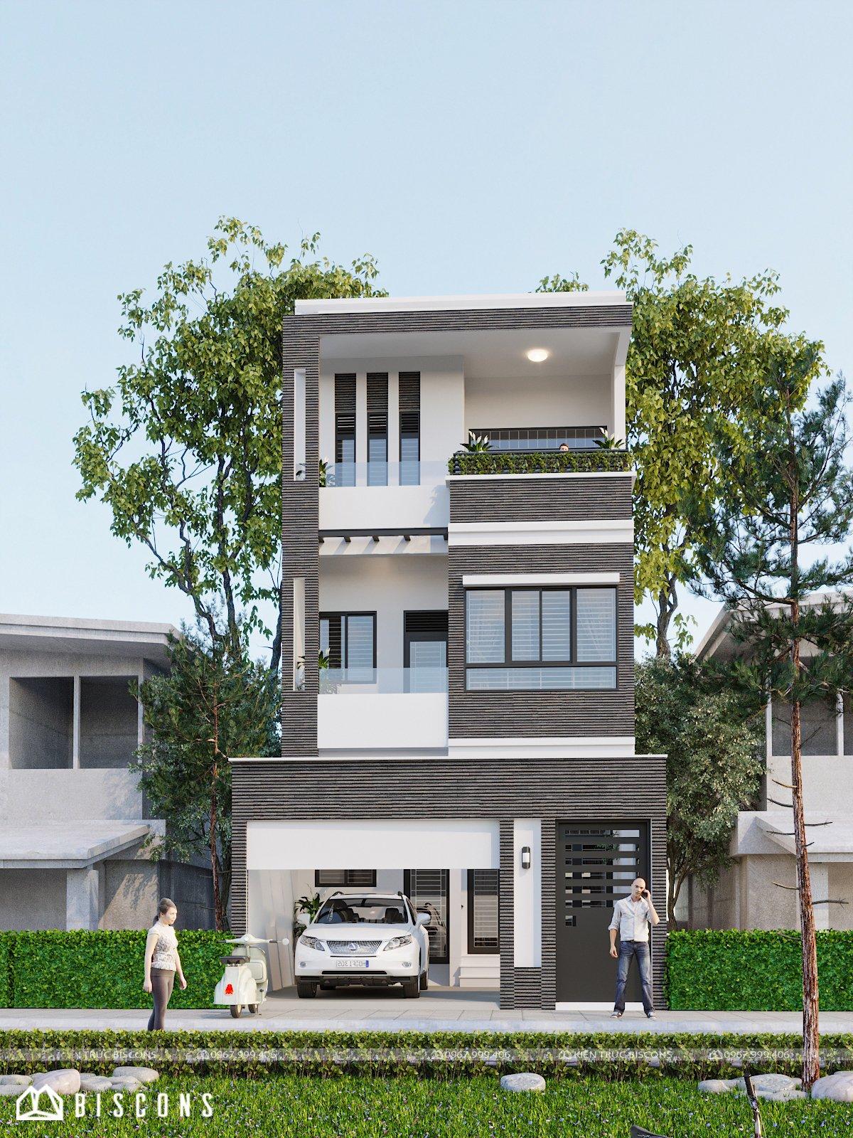 Nhà phố hiện đại 6,7x13m Anh Quang - Đà Nẵng
