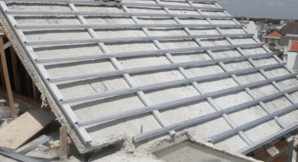 Kết cấu khung giàn mái bê tông lợp ngói