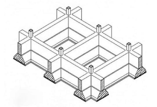 Bản vẽ minh họa móng băng
