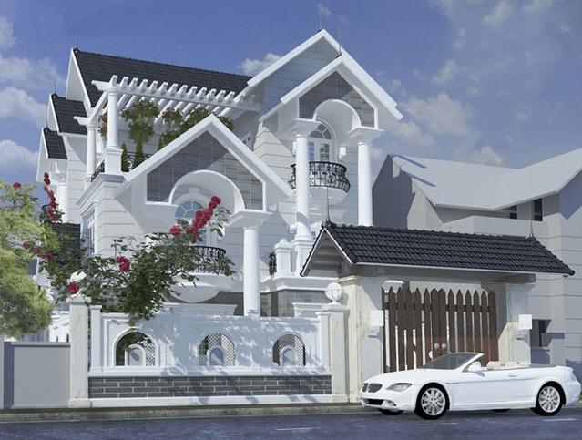 Biệt thự 3 tầng sang trọng, tiện nghi mang hơi hướng kiến trúc Pháp