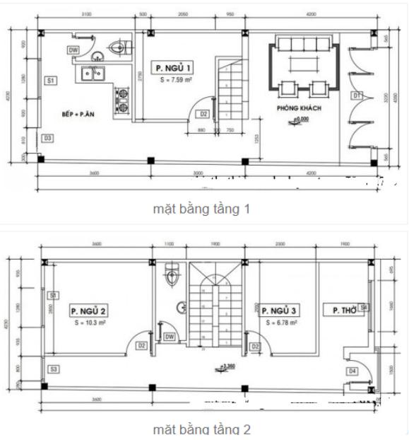 Nhà 4x11m