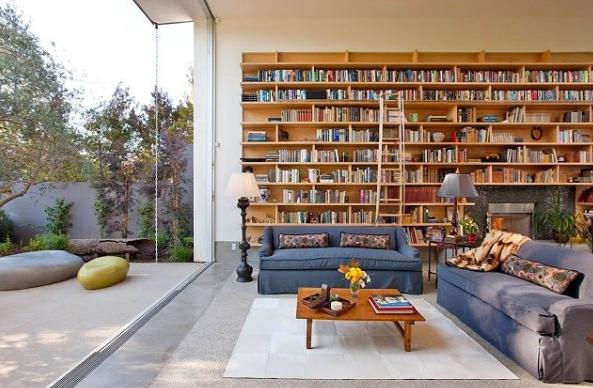 Phòng đọc sách kết hợp với phòng tiếp khách