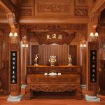 Mẫu thiết kế phòng thờ hiện đại, sang trọng, trang nghiêm
