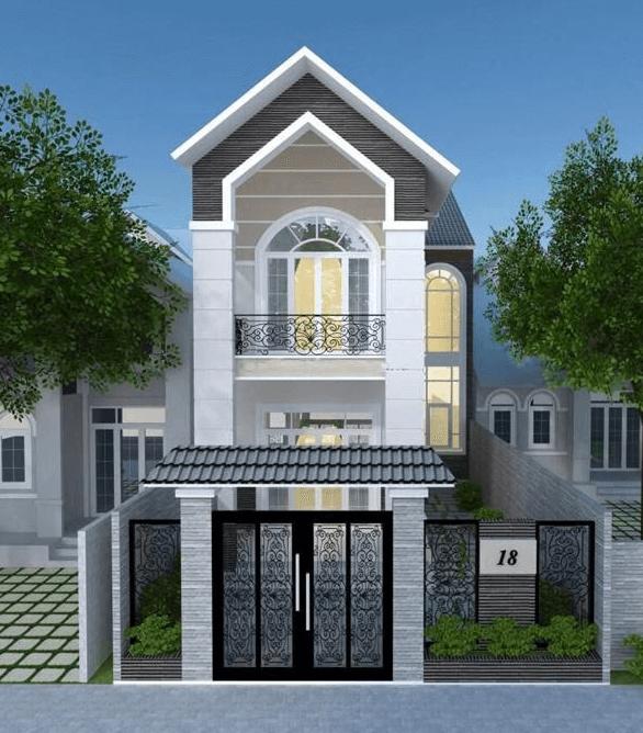 Kiểu nhà 2 tầng mái Thái hiện đại