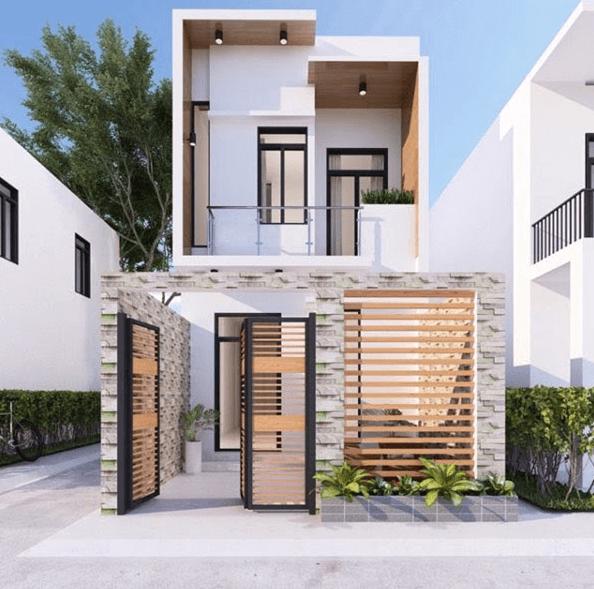 Thiết kế nhà 50m2 2 tầng phù hợp với những gia đình có ít thành viên