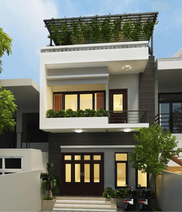 Màu sắc tương phản mang nét nổi bật cho căn nhà