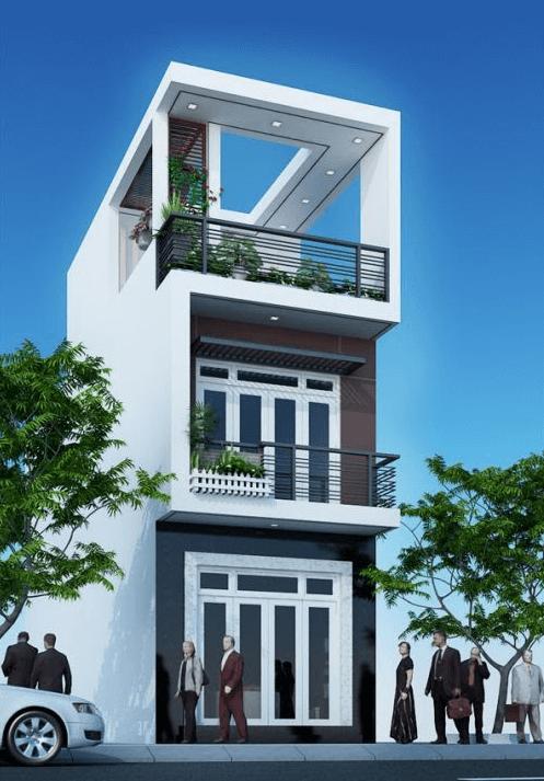 Nhà hai tầng một tum làm tăng diện tích và không gian sử dụng