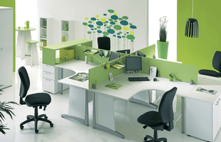 Không gian văn phòng xanh thân thiện và chống mỏi mắt