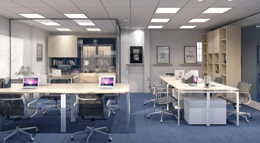 Phong cách mở khiến cả văn phòng thêm rộng rãi, gần gũi