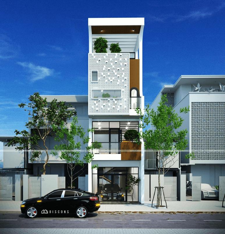 Mẫu thiết kế nhà phố trang nhã