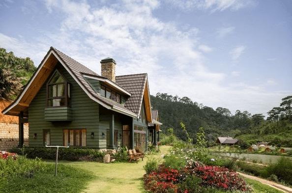 Nhà gỗ phong cách Châu Âu đem đến sự ấm cúng cho không gian sinh hoạt