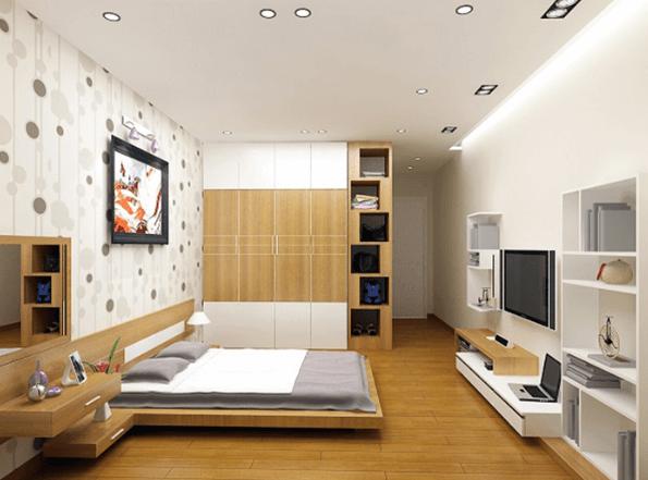 Phòng ngủ 20m2 dành cho vợ chồng gia chủ