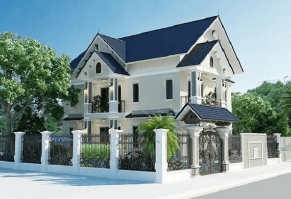 Mẫu thiết kế nhà 2 mặt tiền mái Thái