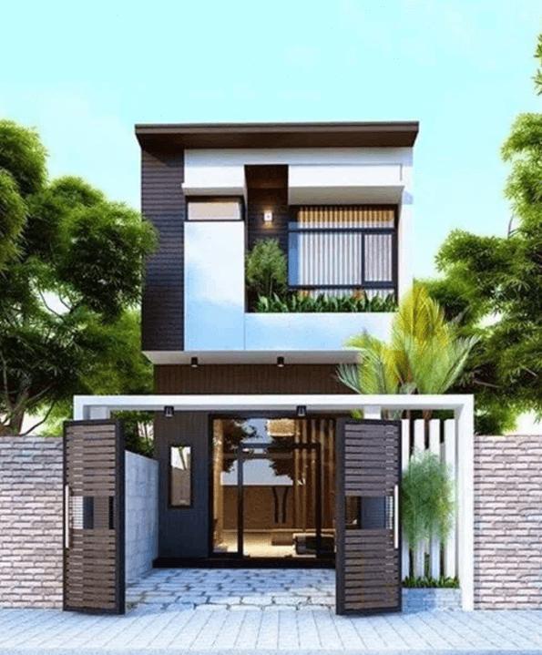 Thiết kế nhà 2 tầng 50m2 3 phòng ngủ phù hợp với gia đình có 2-4 thành viên