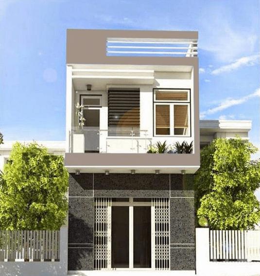 Mẫu thiết kế nhà 2 tầng 60m2 5x12m đơn giản