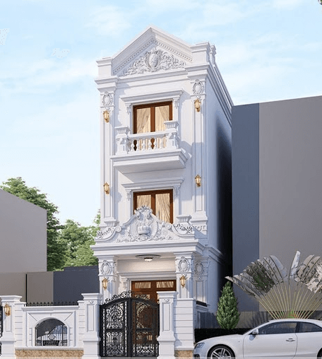 Nhà 3 tầng kiểu tân cổ điển được ưa chuộng