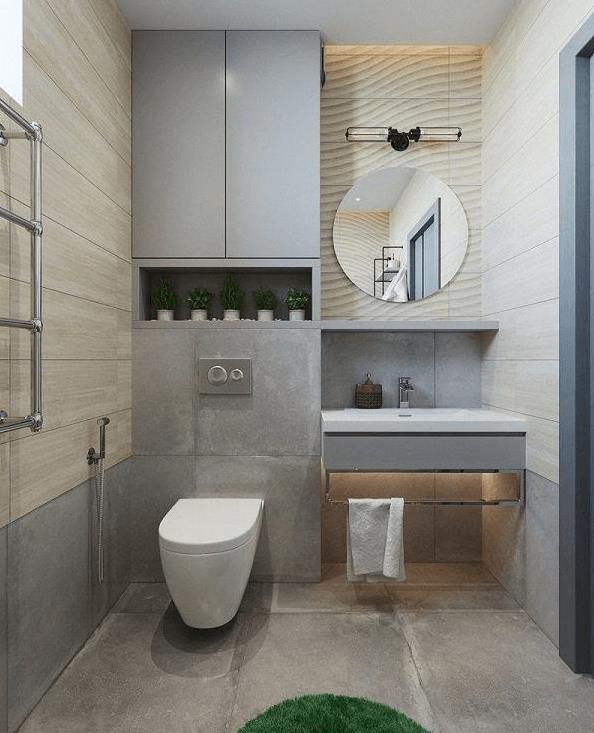 Thiết kế nhà vệ sinh gần gũi thiên nhiên