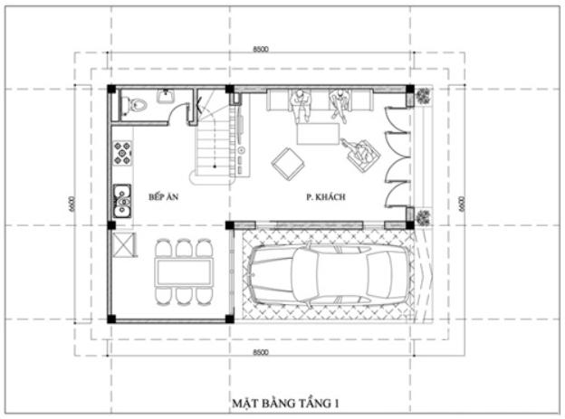 Tầng 1 của ngôi nhà